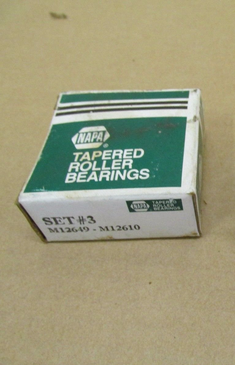 NAPA TIMKEN M12629 TAPERED ROLLER ball BEARING M12610 RACE CONE CUP steel set#3