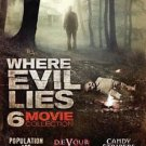 6movie DVD Where Evil Lies,Population436,Devour,CandyStripers,Incubus,Wind Chill
