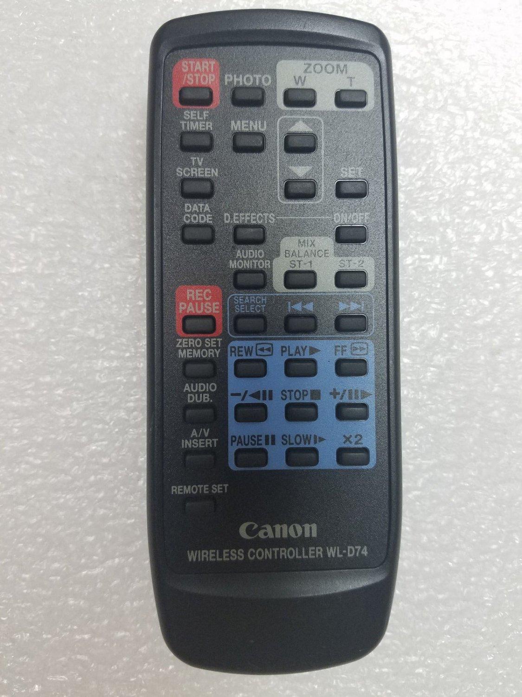 genuine Canon WL D74 REMOTE CONTROL ler ZR10 ZR20 ZR40 GL1 MiniDV Camcorder