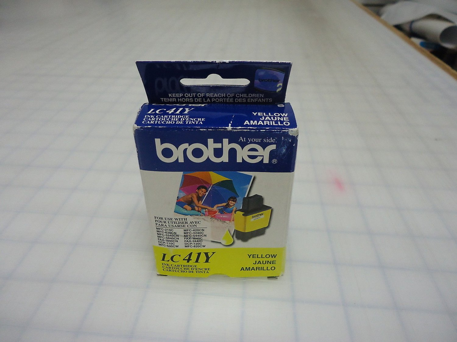 LC41Y BROTHER yellow color ink jet Printer MFC 5440CN 5840CN 3340CN 620CN 420CN