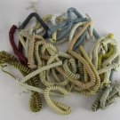 25 coil molded tele phone receiver (3ft+) mixed colors cords cables spiral wires