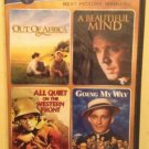 4movie DVD Out of Africa,A Beautiful Mind,Robert REDFORD Meryl STREEP Ed HARRIS