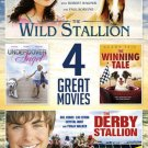 4movie DVD Wild Stallion,Undercover Angel,Winning Tale,Derby Stallion Zac EFRON