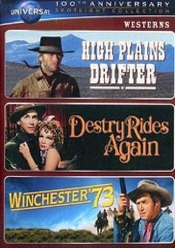 3movie DVD WINCHESTER73 High Plains Drifter,Una MERKEL Verna BLOOM Mariana HILL