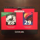 TWIN 28 black 29 color ink Lexmark X2500 X5070 X5495 all in one printer scanner