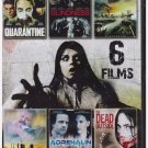 6movie DVD Acceptable Risks,QUARANTINE,Dead Outside,BLINDNESS,AUTUMN,ADRENALIN