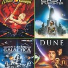 4Movie DVD Flash Gordon,Last Starfighter,Battlestar Galactica,Virginia MADSEN