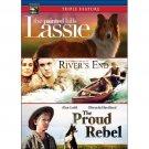 3movie DVD River's End,Proud Rebel,Lassie Painted Hills,Amanda BROOKS Ann DORAN