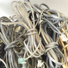 25 standard house hold tele phone cords (4ft+ea.) cables bunch box full of wires