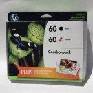60 HP COMBO black color ink DeskJet F4580 F4480 F4440 all in one wireles printer