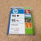 94 black COMBO PACK 95 COLOR ink HP OfficeJet 6200 6210 7210 7310 7410 printer