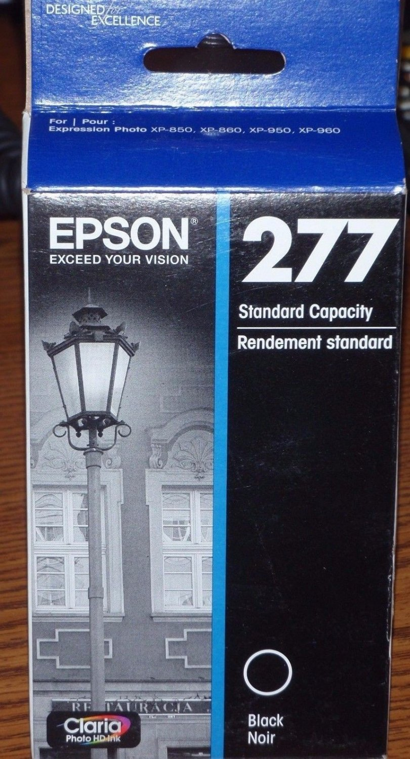 Epson 277 black ink Expression Photo XP 850 XP 860 XP 950 printer Claria T277120