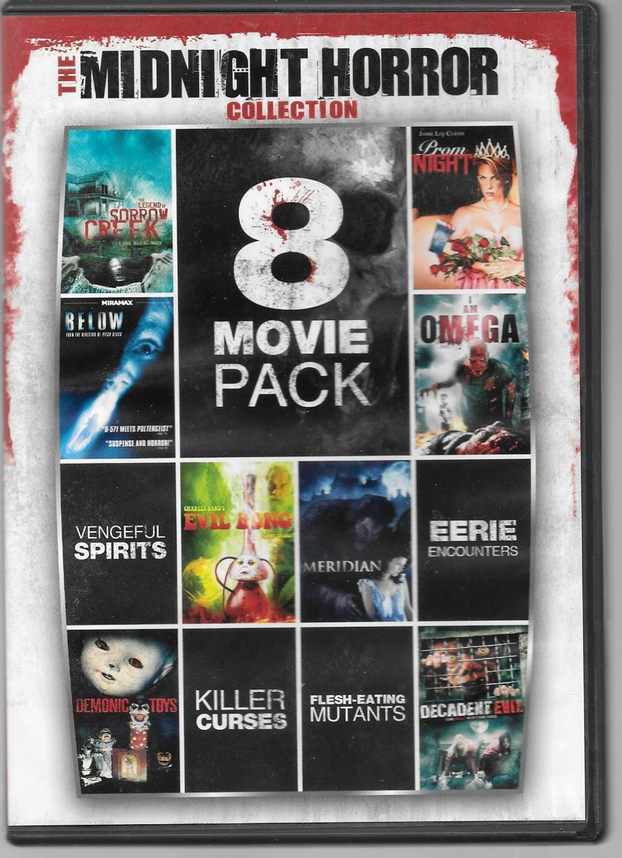 8movie DVD Prom Night,Legend Sorrow Creek,Evil Bong,Demonic Toys,Decadent Evil