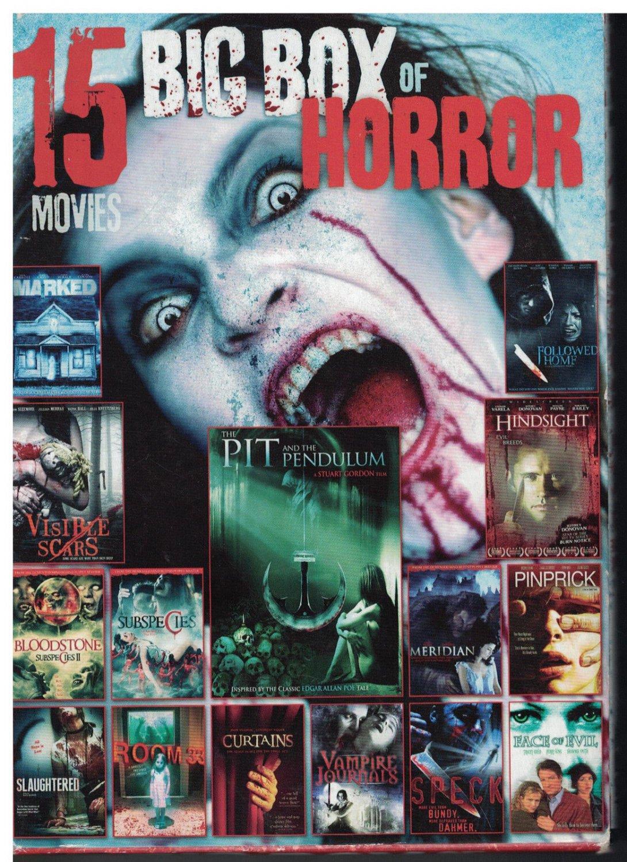 15movie DVD HORROR = nudity,violence,profanity,adult situations,drug use,vampire
