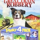 4movie DVD PINOCCHIO Old 587 Great Train Robbery EZ MONEY,CLOCKMAKER  Moli HALL