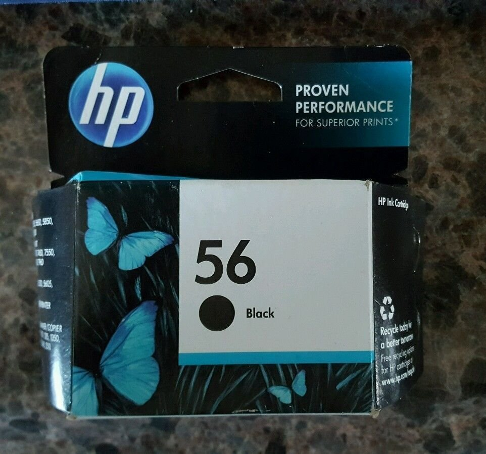 56 BLACK ink jet HP PhotoSmart 7550 7450 7350 7260 printer photo copy scanner