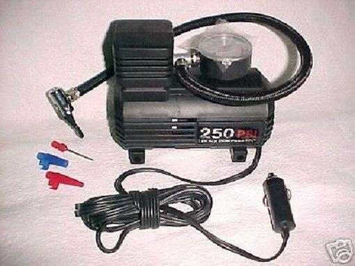 TIRE air PUMP - standard valve bike BICYCLE automobile 12volt electric cord plug