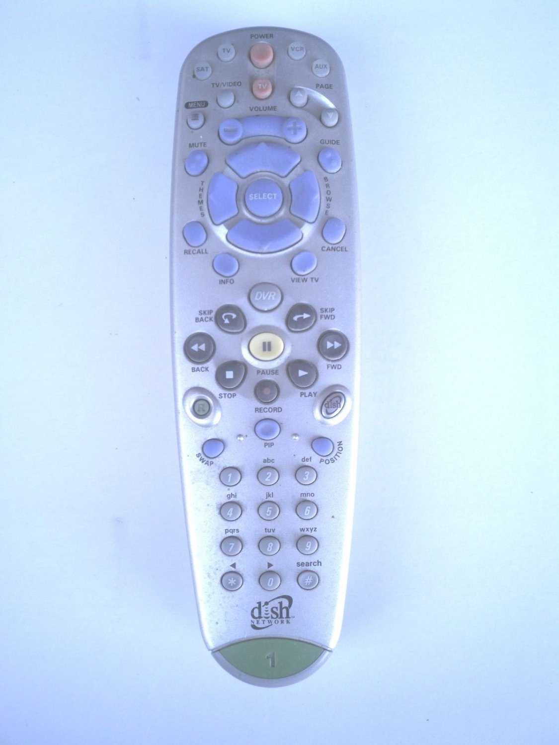 Remote Control Dish Network model 118575 IR 5.0 TV1 DVR 322 522 625 942 receiver