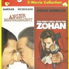 2movie DVD Anger Management & ZOHAN Lanie KAZAN Jack NICHOLSON Marisa TOMEI