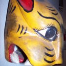 hand carved mexican folk art panther mask