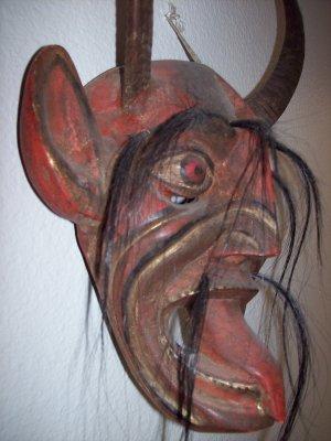 mexican folk art devil/diablo mask
