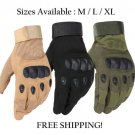 Tactical Hard Knuckle Full Finger Gloves Military Police Army M L XL