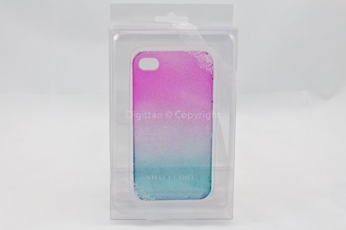iPhone 4 case WaterDrops Sweet label (FUCHSIA & AQUA))