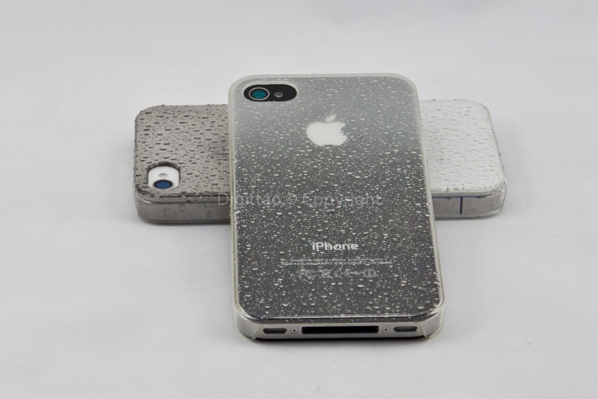 iPhone cases WaterDrops classic (WHITE)