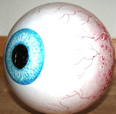 Clear Eyeball Bowling Ball
