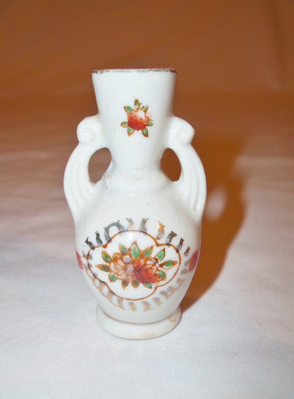 Vintage Doll House Porcelain Vase Made In Occupied Japan