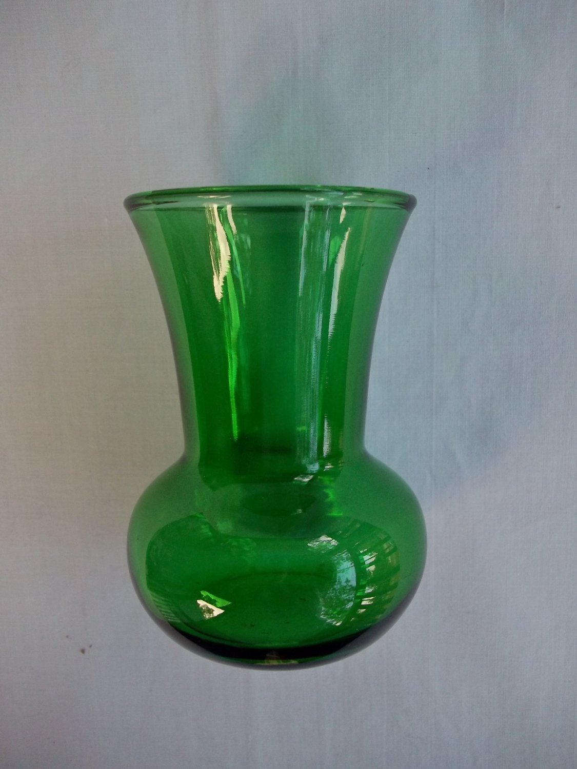 Vintage Small Forest Green Vase