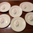 ANTIQUE RETRO 1950's SEARS & ROEBUCK CAT TAIL PLATES, PLATTER AND DEEP DISH PIE PLATE