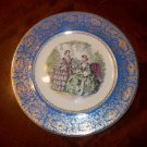 Vintage Century Godey Print China Charger Plate, 23K Gold Trim