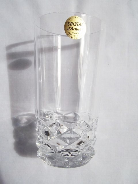 Vintage French Lead Crystal, �Princess Grace� by Kanney Crystal, 13 oz. Beverage Glass