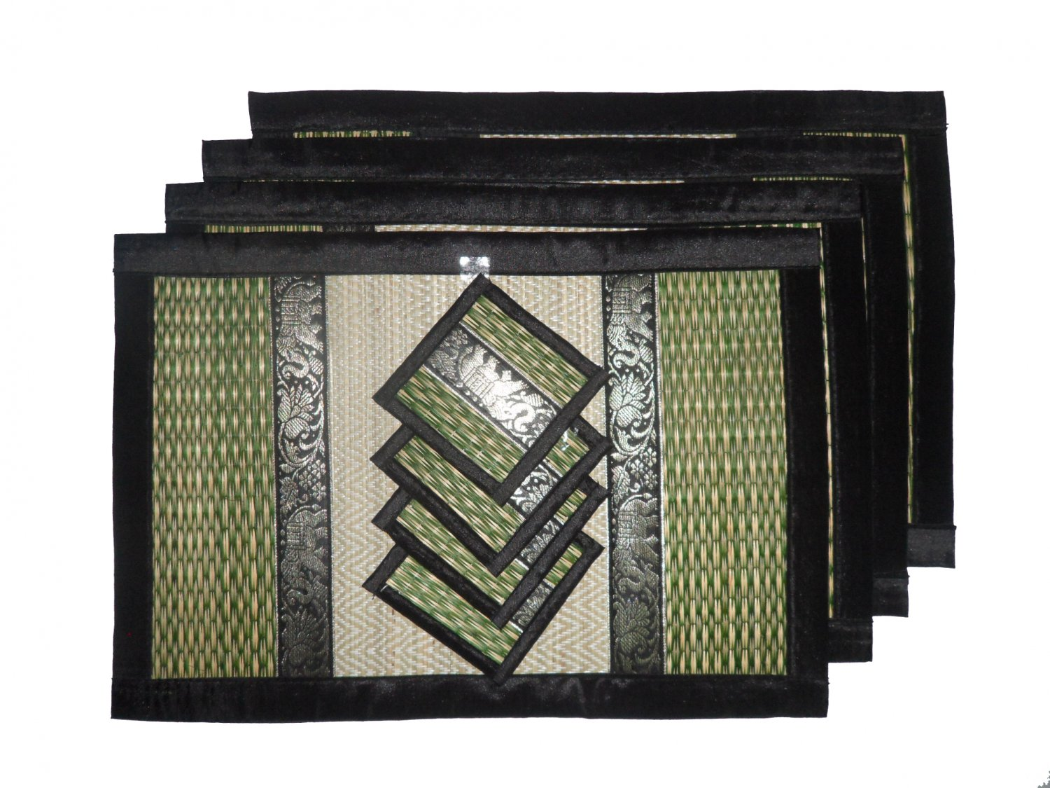 THAI NICE GREEN SEDGE TABLE MATS