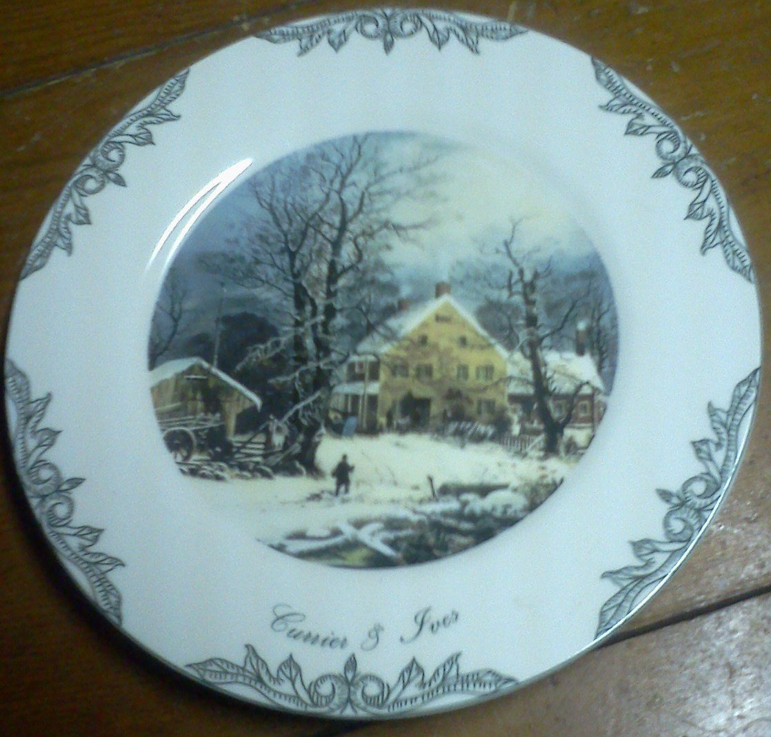 CURRIER AND IVES PLATE