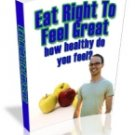 Eat Right to Feel Great eBook