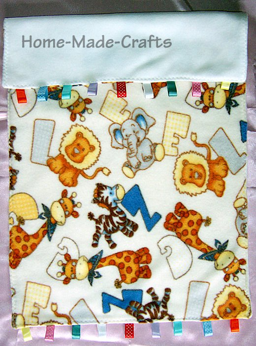 Hand-made baby crib/ buggy blanket assorted materials