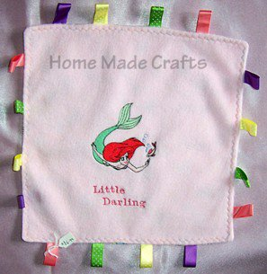 Baby taggy comfort blanket