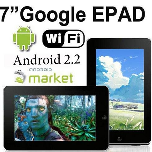 "7"" ePad MID Tablet PC- Android 2.2 CPU 800MHz 2GB"