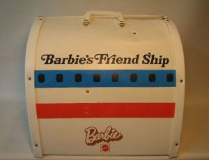 Barbie 1972 United Airlines Airplane Vinyl Case USED