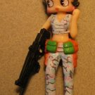 Betty Boop 3 inch Soldier - Pale blue camo pants & vest