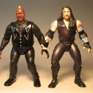 Jakks WWF WWE  figs 2TUFF5 Undetaker vs Viscera LOOSE