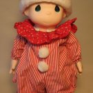 Precious Moments 16 inch doll - red striped jammies