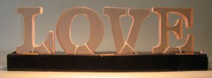 Clear acrylic LOVE Letters 3.5 inch high