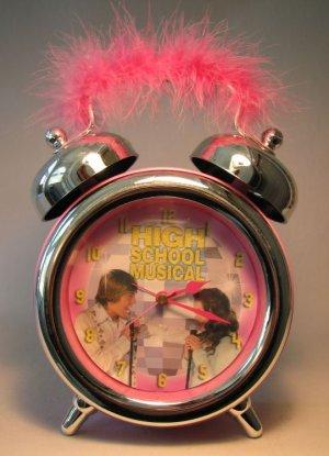 High School Musical Alarm Clock w pink fuzzy handle