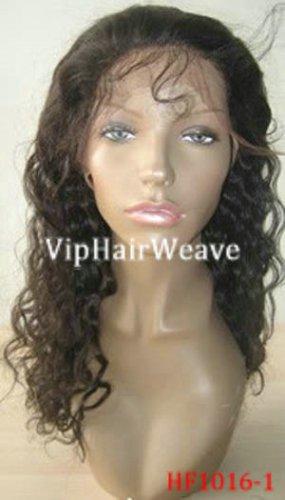 20inch kinky curl human hair full lace wigs #1B HF1016