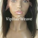 "20"" Yaki Straight Indian Remy Huaman Hair Full Lace Wigs #1B HF1020"