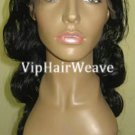 18inch Body Wave Indian Remy Human Hair Full Lace Wigs #1 HF1021