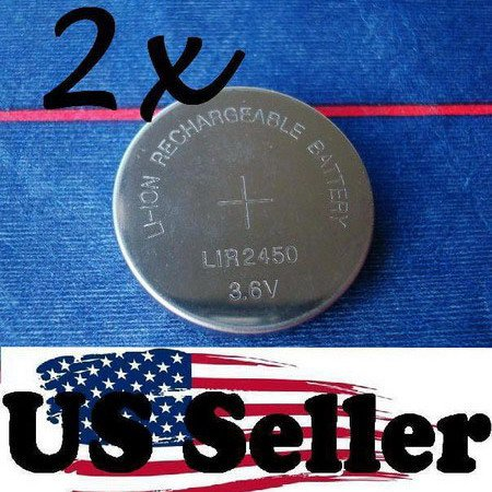 LOT2 LI-ION RECHARGEABLE LIR2450 COIN CELL Battery